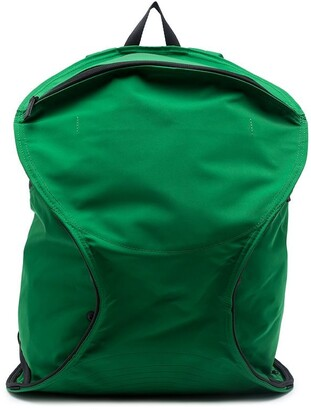 Homme Plissé Issey Miyake Logo-Patch Green Backpack