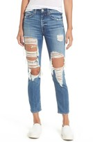 Women's Mcguire Windsor Destroyed High Waist Straight Leg Jeans