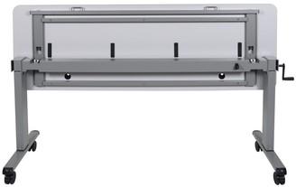 Luxor White 72-inch Adjustable Height Sit/ Stand Flip-top Desk