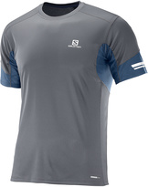 Salomon Forged Iron & Dress Blue Agile Short-Sleeve Tee - Men