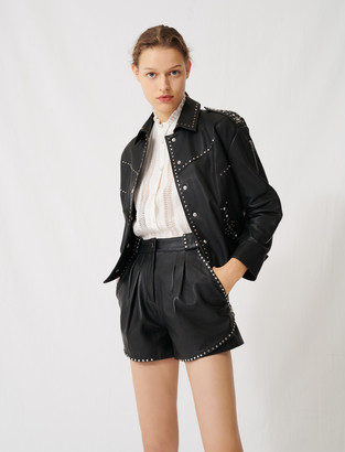 Maje Western leather studded jacket