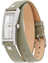 Judith Ripka Stainless Steel Leather WrapWestport Watch