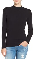 BP Women's Rib Knit Mock Neck Tee
