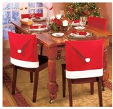 Lucky Star Taoler2014 Santa Claus Hat Chair Covers, 60cm X 50cm Set of 8