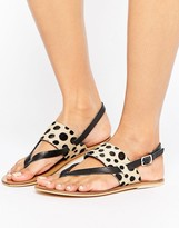 Warehouse Animal Toe Post Sandal