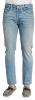 Tom Ford Straight-Fit Light Wash Denim Jeans, Light Blue