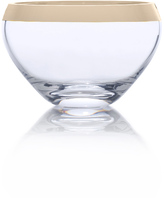 Mikasa Serenity Gold Small Glass Bowl