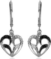 Jessica Simpson Heart Earrings in 10k White Gold
