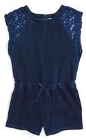 Splendid Girl's Lace Sleeve Romper