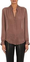 L'Agence Women's Bianca Silk Blouse-LIGHT PURPLE