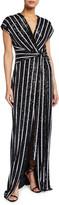 Sachin + Babi Wren Sequin Stripe Column Gown