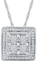 Diamond Accent Round White Diamond Square Fashion Pendant in Sterling Silver (I-J,I2-I3)