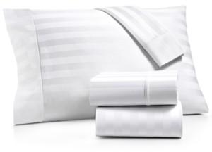 Aq Textiles Bergen Stripe 4-Pc. Queen Extra-Deep Sheet Set, 1000 Thread Count 100% Certified Egyptian Cotton Bedding