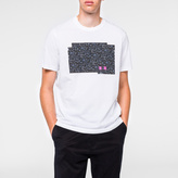 Paul Smith Men's White 'PS Stencil' Print Organic-Cotton T-Shirt