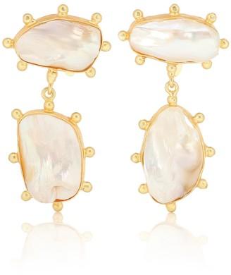 PEET DULLAERT Galia 14kt gold-plated pearl earrings