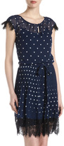 Donna Morgan Polka-Dot Pleated Shirt Dress