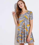LOFT Petite Fern Short Sleeve Swing Dress
