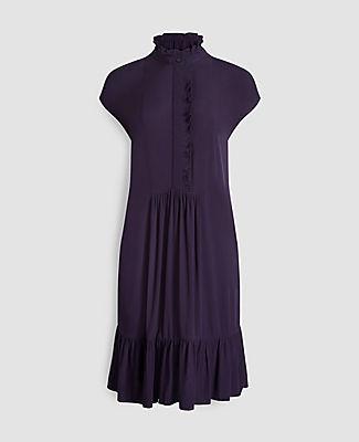Ann Taylor Petite Ruffle Hem Shirtdress