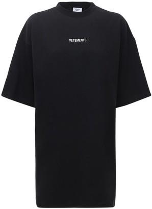 Vetements Logo Patch Cotton Jersey T-shirt