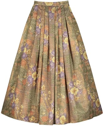 Monique Singh Iconic Ethereal Floral Evening Skirt