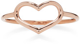 Jordan Askill Rose Gold Delicate Heart Ring