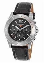 Swiss Legend Women's 'Paradiso' Swiss Quartz Stainless Steel and Leather Casual Watch, Color:Black (Model: 16016SM-01-OA)