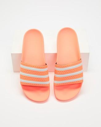 adidas Women's Orange Slides - Adilette - Women's - Size 5 at The Iconic