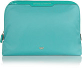 Anya Hindmarch Lotions and Potions patent leather-trimmed cosmetics case