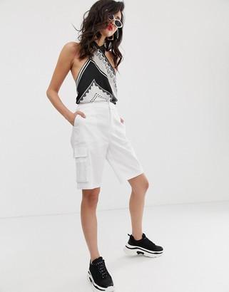 NA-KD Na Kd cargo shorts in white