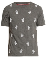 Moncler Gamme Bleu Duck-embroidered crew-neck cotton T-shirt