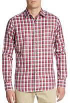Saks Fifth Avenue Regular-Fit Plaid Cotton Sportshirt
