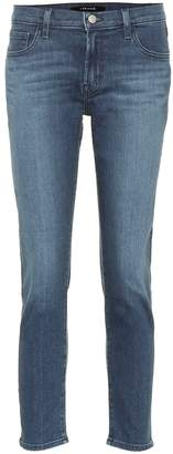 J Brand Sadey cropped mid-rise jeans