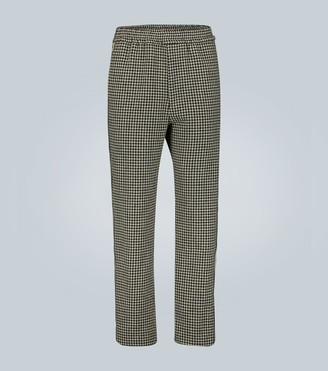 Gucci Houndstooth wool-blend pants