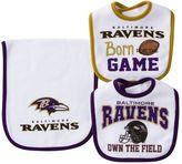 Baby Baltimore Ravens 3-Piece Bib & Burp Cloth Set