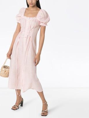 Sleeper Gingham Midi Dress