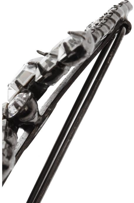 Jennifer Behr Gunmetal Swarovski crystal hairclip