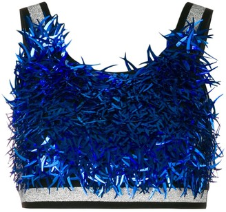 NO KA 'OI Sequinned Crop Top