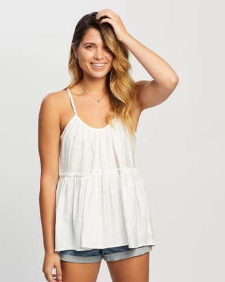 Atmos & Here Atmos&Here - Women's White Sleeveless Tops - Gabriella Smock Cami - Size 6 at The Iconic