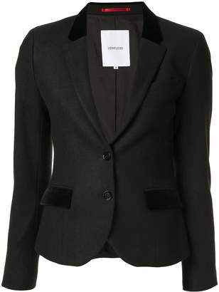 Loveless colour block blazer