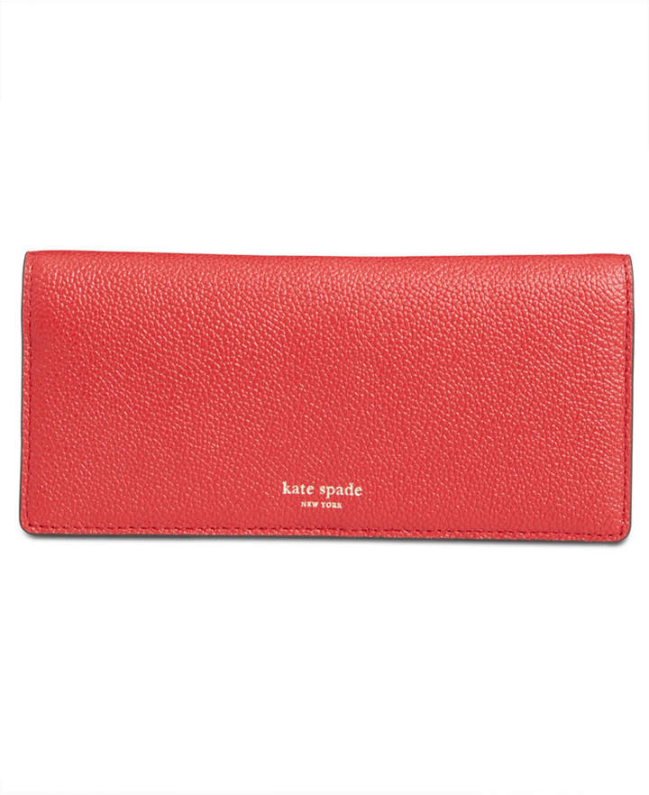 Kate Spade Margaux Pebble Leather Bifold Continental Wallet