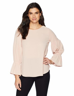 Chaus Women's Smocked Sleeve Blouse