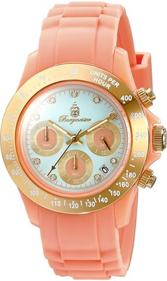 Burgmeister BM514-034s Florida Ladies watch Analogue display Quartz with Seiko Movement - Water resistant Sporty and trendy silicone strap Fashionable women's watch