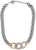 Swarovski Crystal Bound Plated Chunky Chain Necklace.
