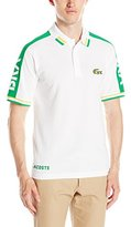 Lacoste Men's Supporter Short Sleeve 16 Inch Pique Polo By Country