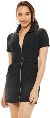 JLO by Jennifer Lopez Women's Fitted Denim Mini Dress