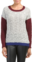 Juniors Colorblock Long Sleeve Sweater