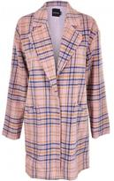 MinkPink Not So Plaid Coat