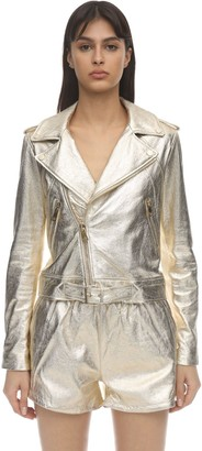 Lvr Exclusive Metallic Leather Jacket
