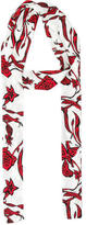Ellery Abstract Print Silk Scarf