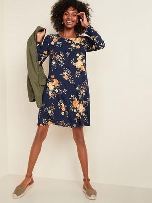 Old Navy Jersey-Knit Long-Sleeve Swing Dress for Women